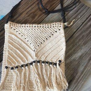 Fringed purse boho